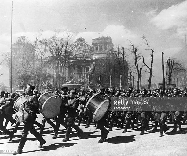 A Photograph of a Soviet Band in Berlin circa May 1945