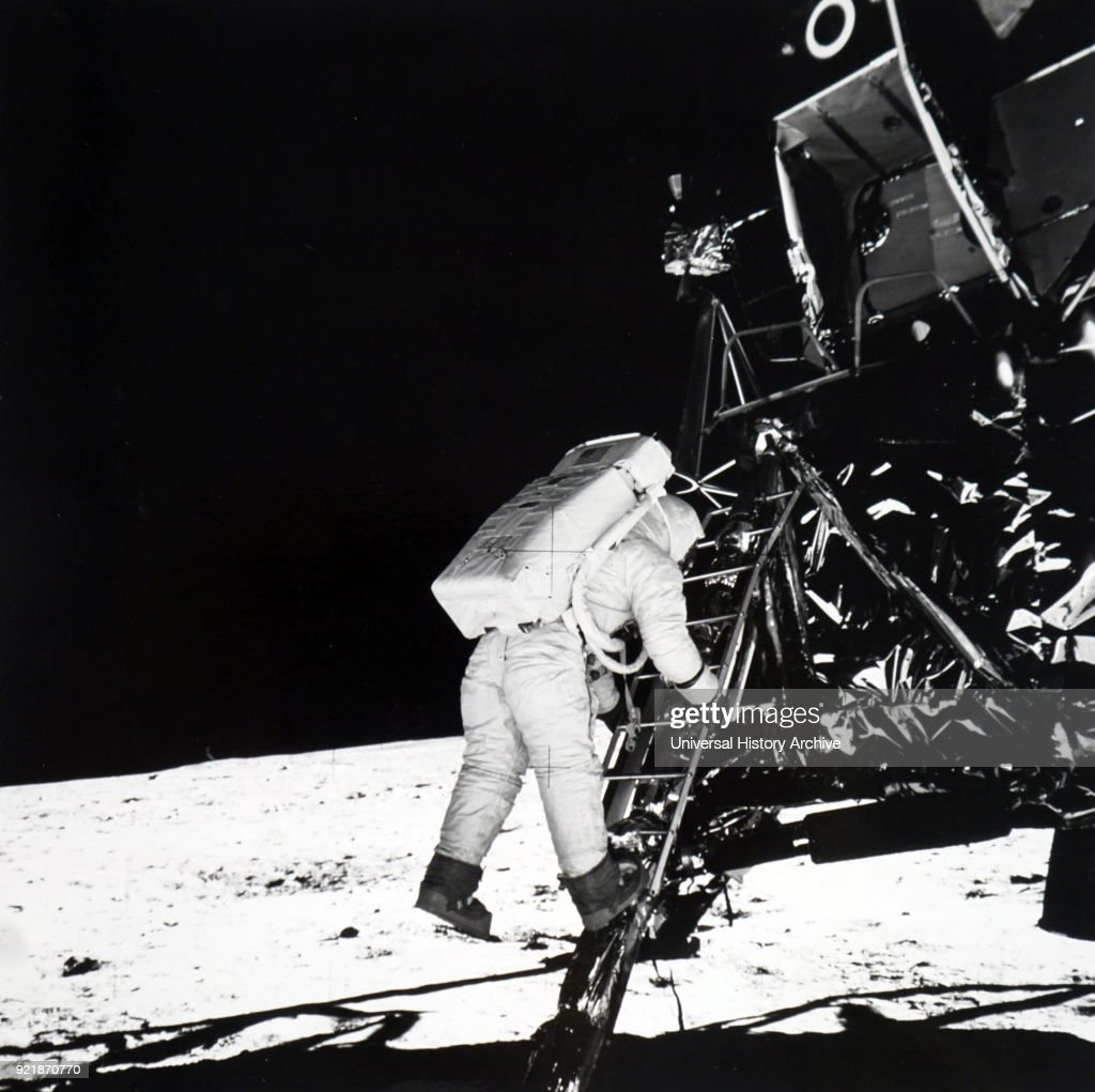 Photograph of a space probe. A space probe is a robotic spacecraft that does not orbit the Earth, but, instead explores further into outer space. Dated 20th century.