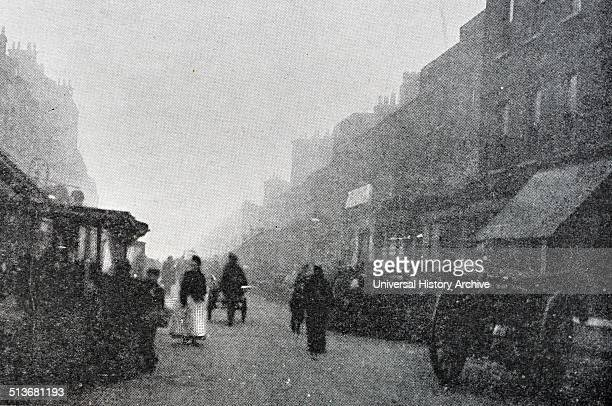 Photograph of a street in Islington a district in Greater London England and part of the London Borough of Islington Dated 1901