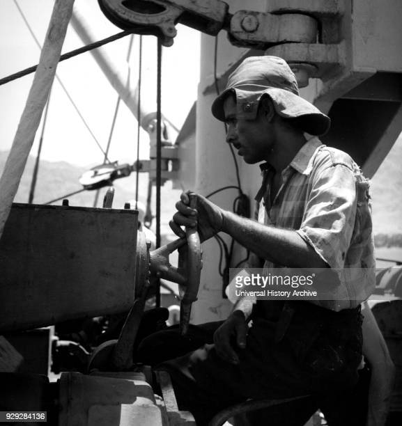 Photograph of a UN expert helping with the construction of the Port of Aqaba The Port of Aqaba is the only port in Jordan owned and operated by the...