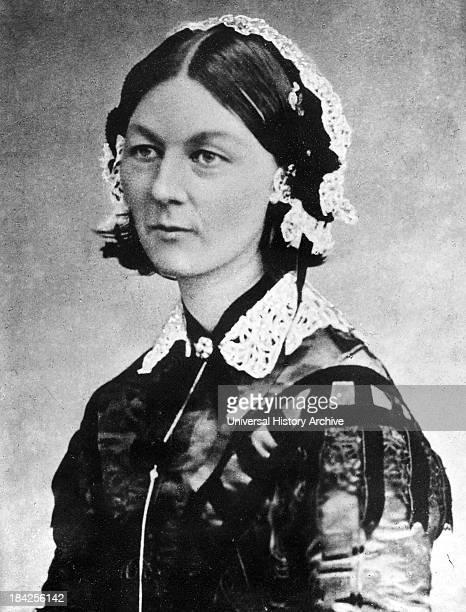 Photograph of a young Florence Nightingale, the founder of modern nursing, as well as a celebrated English social reformer and statistician. She was...