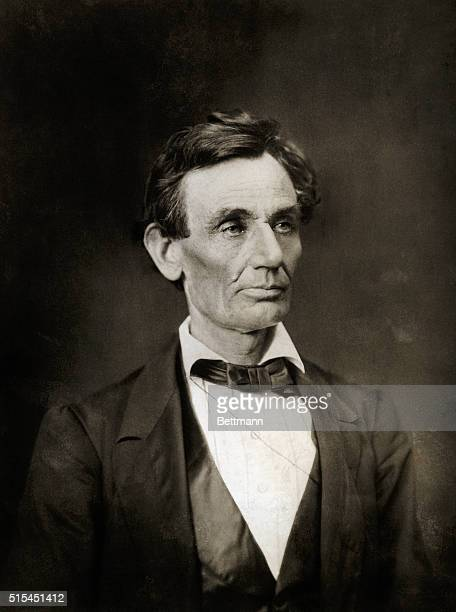 A photograph of Abraham Lincoln taken after his November 1860 election and before his March 1861 inauguration