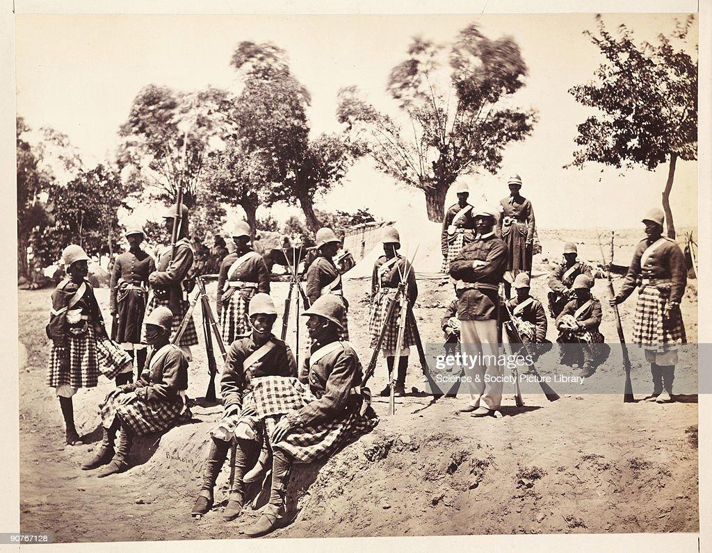 The Amirs Highlanders, 1879. : News Photo