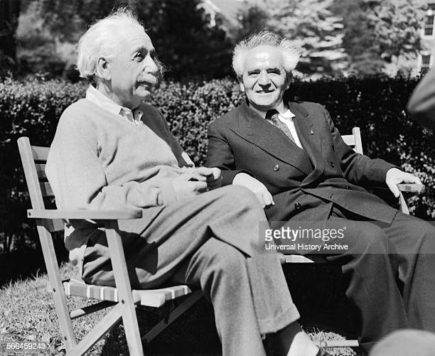 Photograph of Albert Einstein with Israeli Prime Minister David Ben Gurion Dated 1951