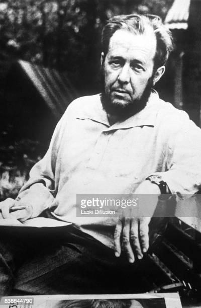 A photograph of Aleksandr Solzhenitsyn Soviet dissident novelist and Nobel Prize winner Russia 1994