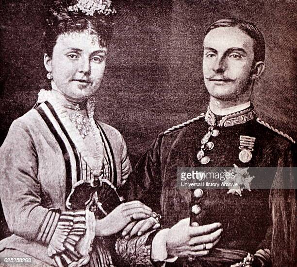 Photograph of Alfonso XII of Spain and Mercedes of Orleans. Dated 19th Century.
