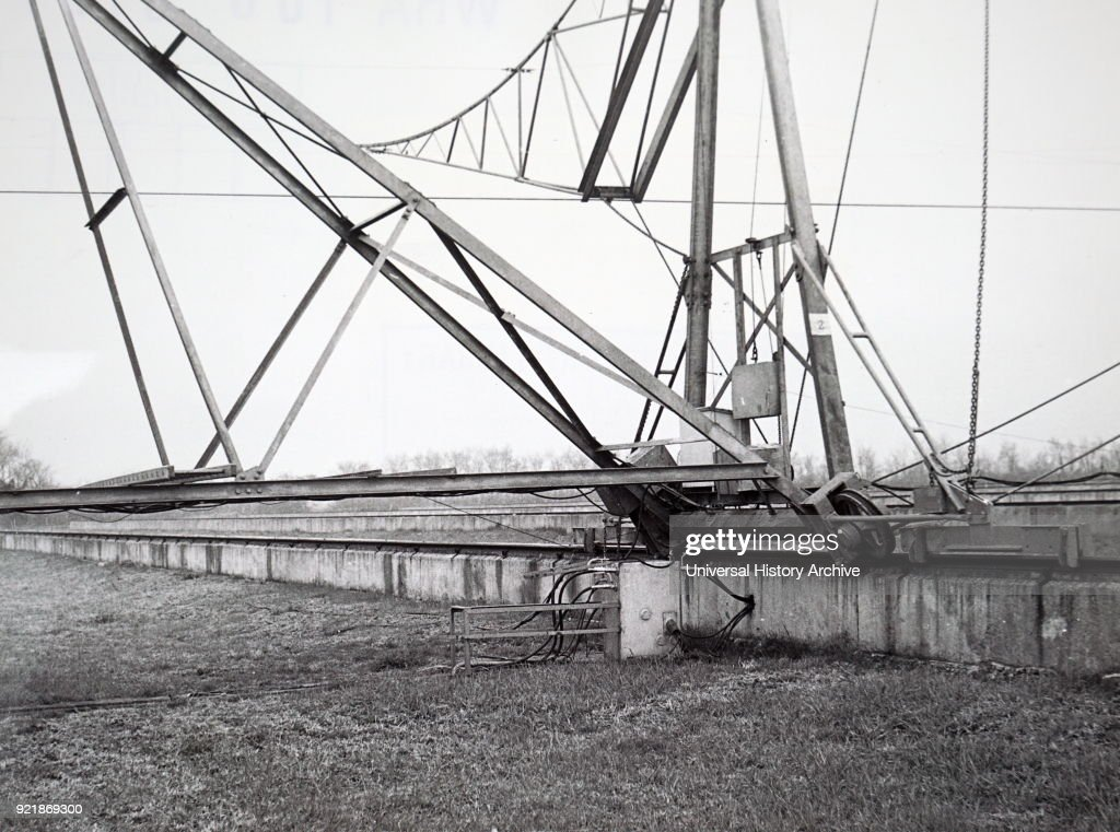 Photograph of an aperture synthesis, a type of interferometry that mixes signals from a collection of telescopes to produce images having the same angular resolution as an instrument the size of the entire collection. Dated 20th century.