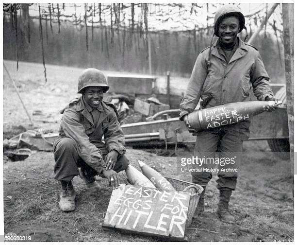 Photograph of an Easter Egg hunt for Adolf Hitler Austrianborn German politician who was the leader of the Nazi Party He was Chancellor of Germany...