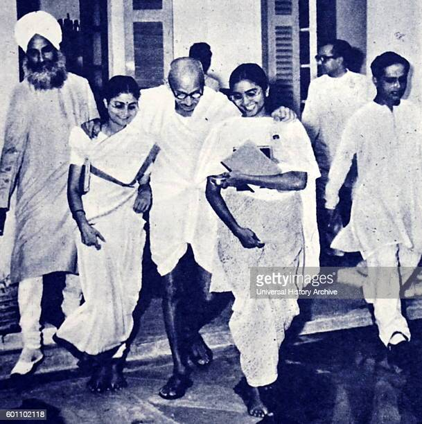 Photograph of an emaciated Mahatma Gandhi the preeminent leader of the Indian independence movement in Britishruled India Dated 20th Century