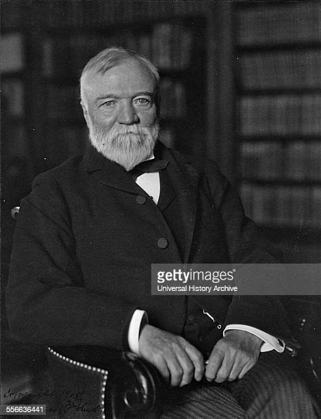 Photograph of Andrew Carnegie Scottish American industrialist who led the enormous expansion of the American steel industry Dated 1905