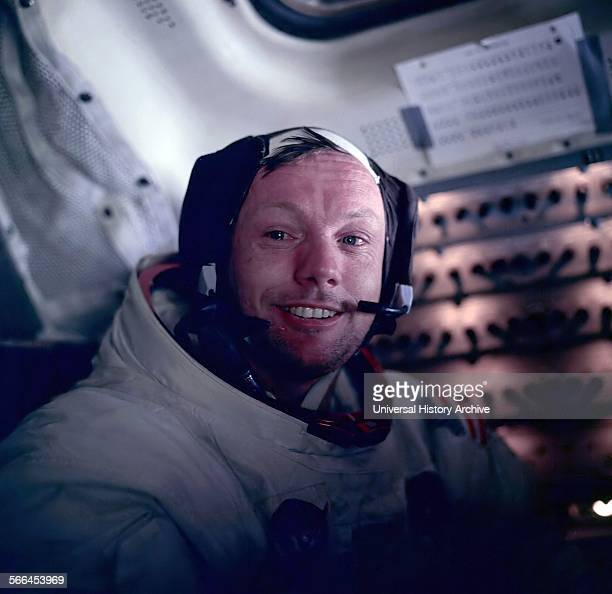 Photograph of Astronaut Neil Armstrong during the Apollo 11 space mission Dated 1969