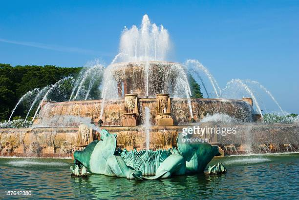 Der Buckingham Springbrunnen im Grant Park in Chicago, IL