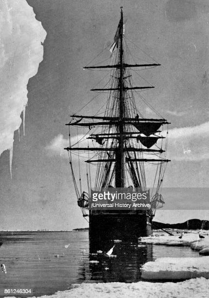 Photograph of Captain Robert Falcon Scott's ship used during an Expedition Captain Robert Falcon Scott a British Royal Navy officer and explorer of...