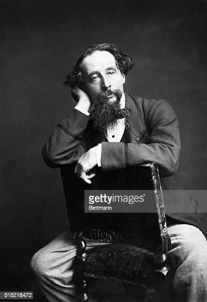 Photograph of Charles Dickens seated Undated photograph