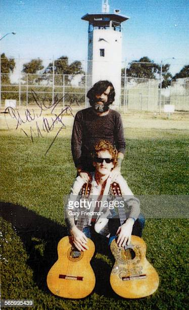 A photograph of Charles Manson and Eddie Ragsdale sent by Charles Manson to Manuel Vasquez during the week of August 12 2012 The photograph was taken...