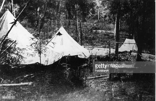 A Photograph of Cholera Tents on River Kwai circa 1944