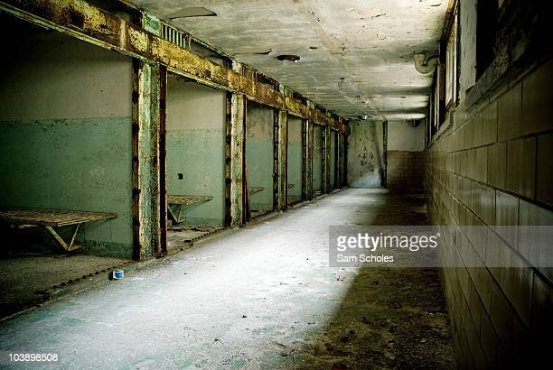 Photograph of 'Death Row' at the historic Eastern State Penitentiary in Philadelphia Pennsylvania Eastern State was the first prison of its kind and...