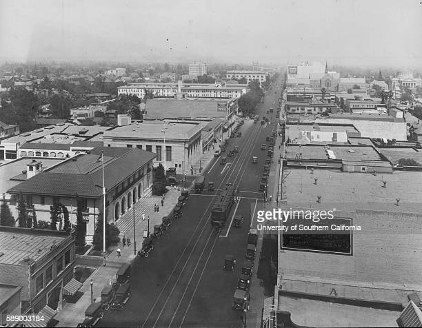 Photograph of east on Colorado Street Pasadena Pasadena California January 25 1929