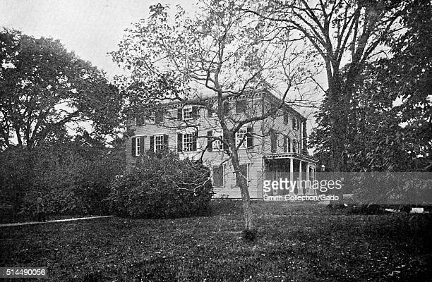Photograph of Elmwood historic house built around 1767 known for several prominent former residents including Thomas Oliver royal Lieutenant Governor...