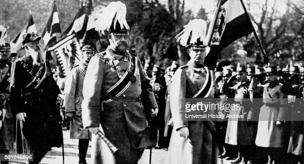 Photograph of Emperor Wilhelm II King of Prussia and German Emperor during the funeral of his first wife Augusta Victoria of SchleswigHolstein Dated...