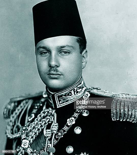 Photograph of Farouk I of Egypt King of Egypt and the Sudan succeeding his father Fuad I of Egypt Dated 1936