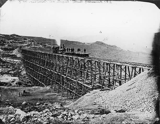 Photograph of First Transcontinental Railroad, circa...