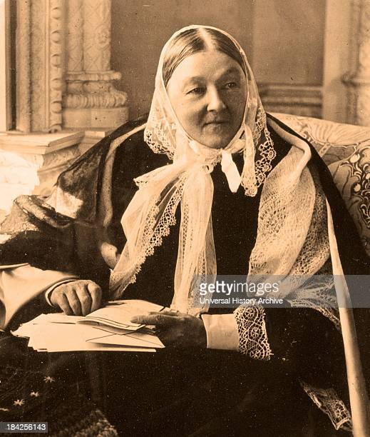 A photograph of Florence Nightingale in her later years the founder of modern nursing as well as a celebrated English social reformer and...