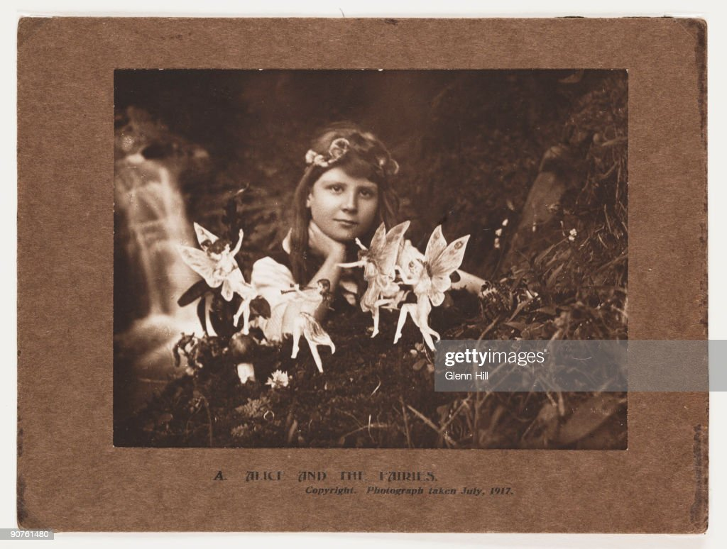 The Cottingley Fairies - Photographs taken by young Elsie Wright and Frances Griffiths in Cottingley seemingly showed fairies and was taken by some as evidence of their existence. The fairies were cardboard cutouts.