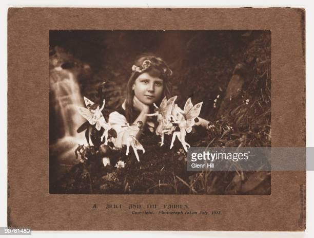 Photograph of Frances 'Alice' Griffiths taken by her cousin Elsie 'Iris' Wright , using her father Arthur's Midg quarter-plate camera, the first in...