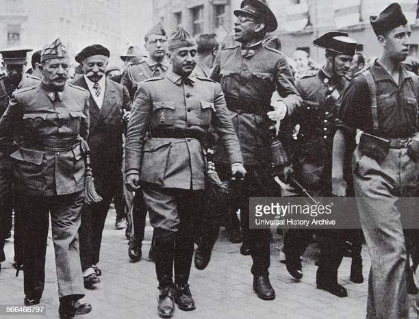 1936 photograph of Francisco Franco 18921975 Nationalist leader of Spain 19361975 visiting the town of Burgos