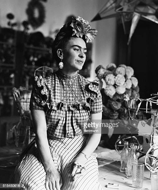 Photograph of Frida Kahlo Mexican painter and wife of Diego Rivera