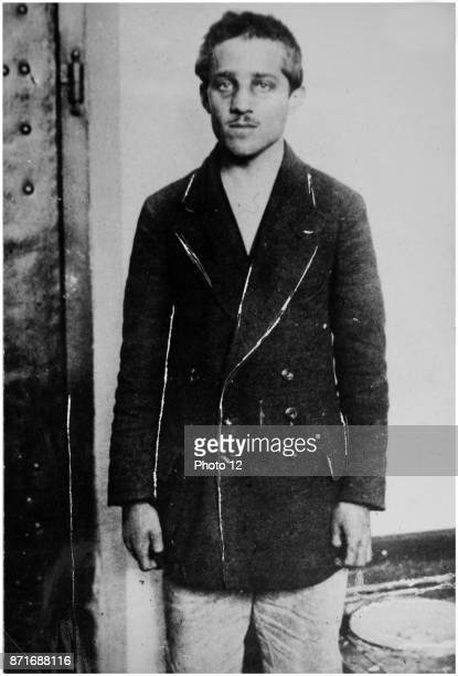 Photograph of Gavrilo Princip Bosnian Serb who assassinated Archduke Franz Ferdinand of Austria and his wife Sophie Duchess of Hohenberg in Sarajevo...