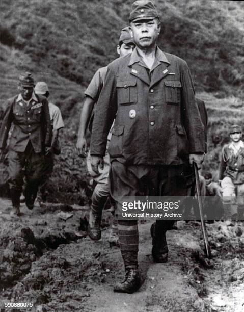 Photograph of General Tomoyuki Yamashita surrending . An Imperial Japanese Army general during World War II. He was executed by hanging after being...