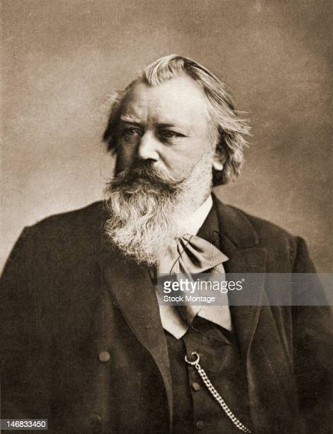 Photograph of German composer Johannes Brahms late 19th century