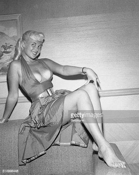 Photograph of Gloria Pall model known as Miss Clevage of 1952