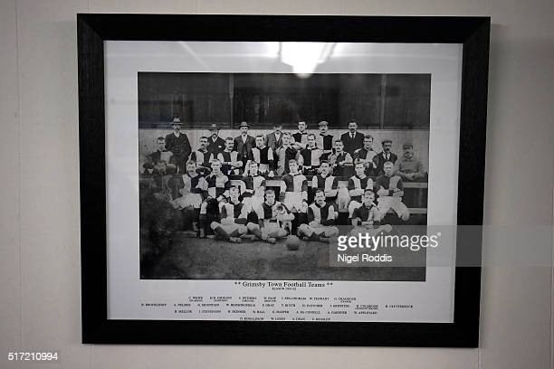 Photograph of Grimsby Town 1901-2 team ahead of the FA Trophy Semi Final Second Leg between Grimsby Town and Bognor Regis at Blundell Park on March...