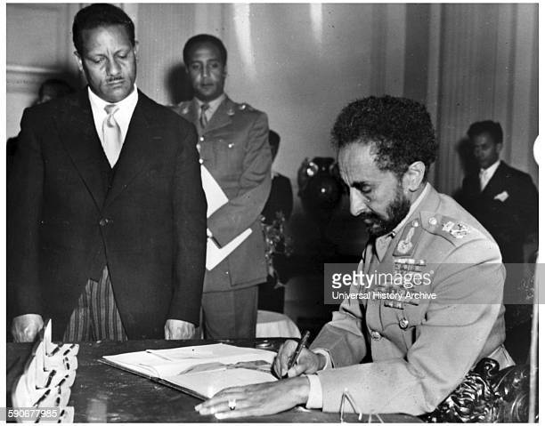 Photograph of Haile Selassie Ethiopia's regent from and Emperor of Ethiopia Dated 1961