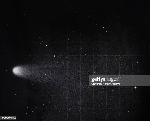 Photograph of Halley's Comet in 1910. Discovered by Edmond Halley an English astronomer, geophysicist, mathematician, meteorologist, and physicist....