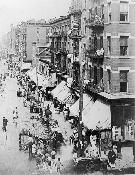 A Photograph of Hester and Clinton Streets, Lower East...
