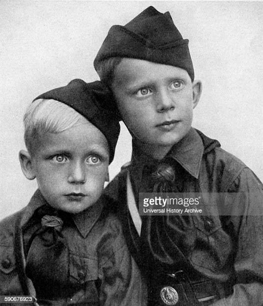 Photograph of Hitler Youth members Dated 1939