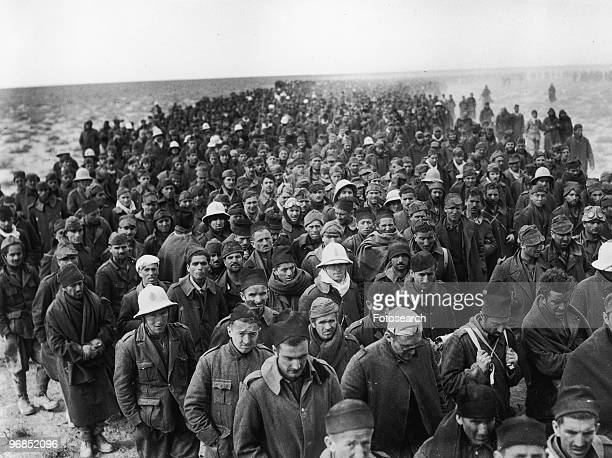 A Photograph of Italian Prisoners being Marched to a British Base January 6th 1941