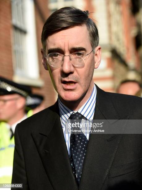 Photograph of Jacob Rees-Mogg. Jacob William Rees-Mogg a British politician serving as Leader of the House of Commons and Lord President of the...
