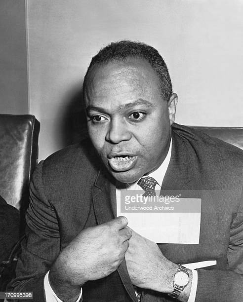 A photograph of James Farmer civil rights leader and principal founder of the Congress of Racial Equality San Francisco California September 17 1963