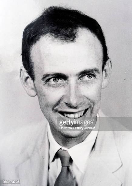 Photograph of James Watson an American molecular biologist geneticist and zoologist best known as one of the codiscoverers of the structure of DNA in...