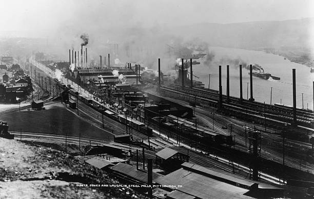 A Photograph of Jones and Laughlin Steel Mills in Pittsburgh,...