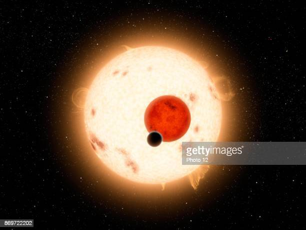 Photograph of Kepler16 a binary star system in the constellation of Cygnus targeted by the Kepler Spacecraft Dated 2011