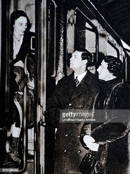 Photograph of King Michael I of Romania and Princess Anne of BourbonParma Dated 20th Century