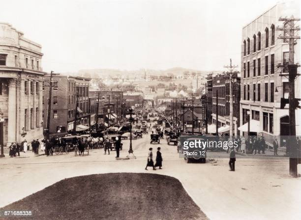 Photograph of King Street Sherbrooke Canada Dated 1926