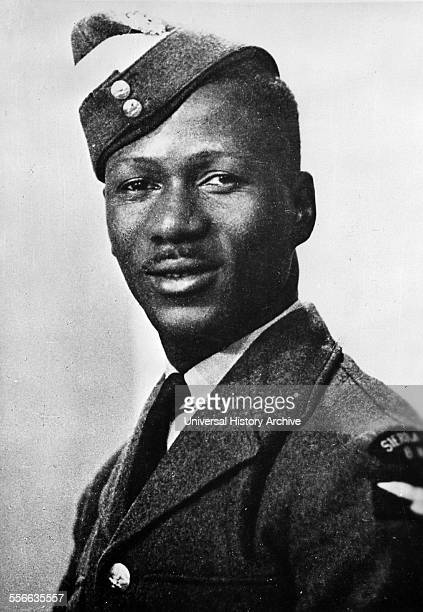 Photograph of Leading aircraftman AK Hyde of Sierra Leone Hyde was the first Sierra Leonean to fly with Royal Air Force Dated 1940