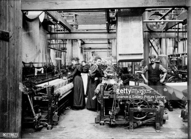 Photograph of madras muslin weaving Women made up a large part of the textile mill workforce